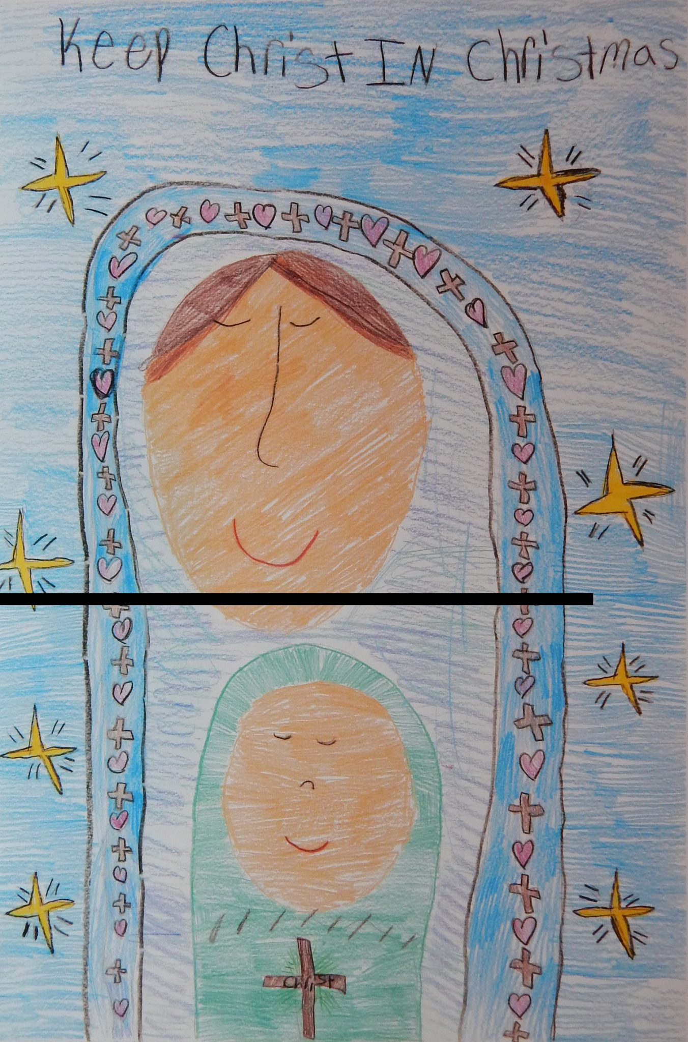 Keep Christ in Christmas Poster Winners | Minnesota Knights of Columbus